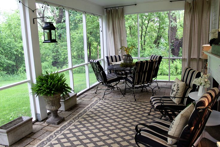 Screen+Porch+Curtains | Screened Porch | Maple and Magnolia