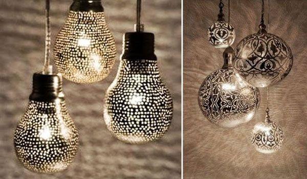 Déco recyclage avec des ampoules - J'ai dit oui