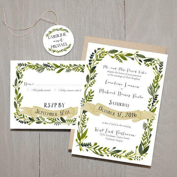 Wonderland Custom Wedding Invitation Sample Set  by SmittenOnPaper
