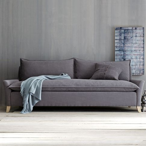 NICE!Living Rooms, Cozy Basement, Comfy Couch, Super Comfy, Grey Sofas, Gray Sofas, Grey Couches, West Elm, Bliss Sofas
