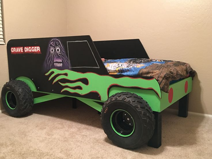 Grave Digger Monster Truck Bed