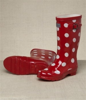 Hatley Red & White Spot Gumboots