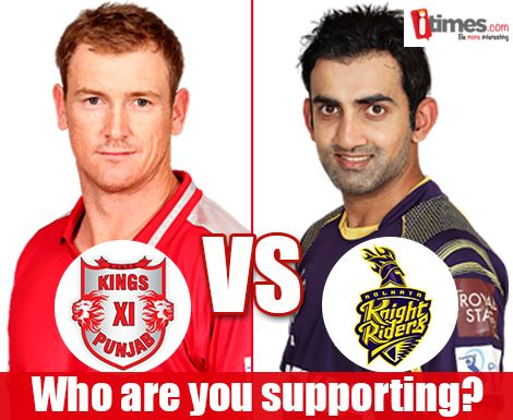 Its #KKR vs #Punjab today & the winner gets to play in the finals of #IPL7. Who are you supporting? Vote here