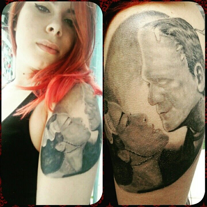 Frankestein mary tattoo