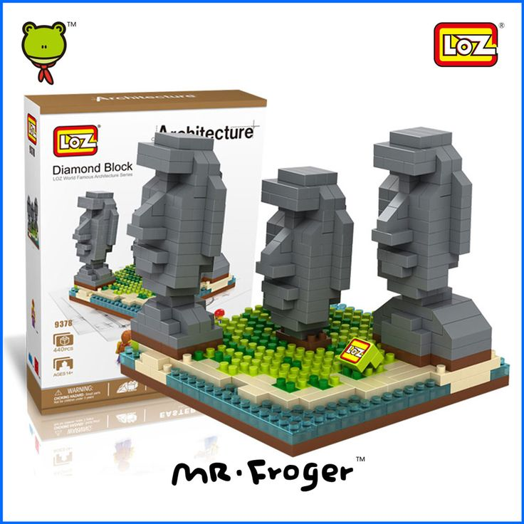 Г-н Froger Остров Пасхи LOZ Алмаз Блок Всемирно Известный Серии Архитектура Walparaiso Чили Minifigures Строительных Блоков Игрушки