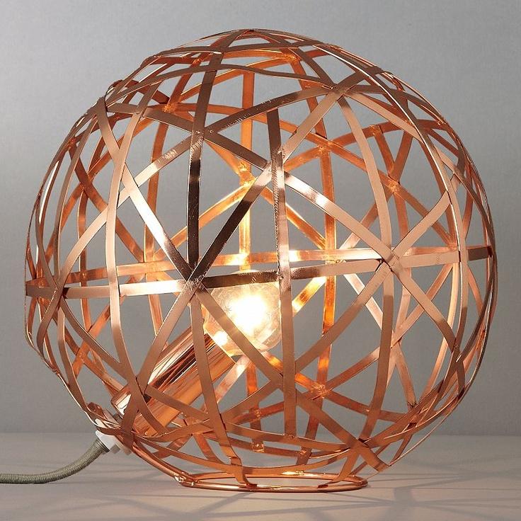 Nova Copper Ball Table Lamp  - John Lewis