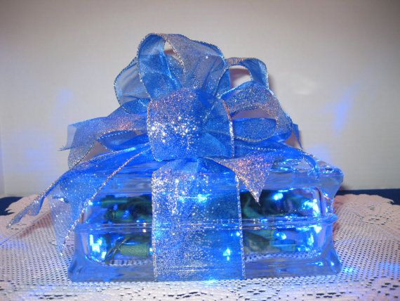 Blue/Silver Sparkler with BLUE LED lights by Originalsbysuej, $35.00