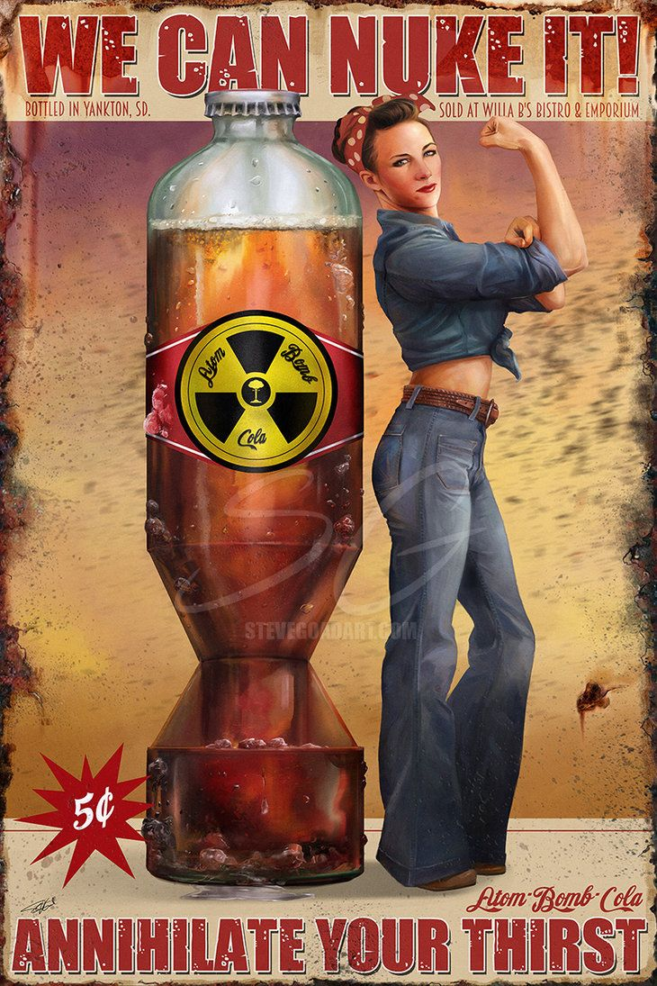 Created in ArtRage Fallout 4 inspired. Atom Bomb Cola series: