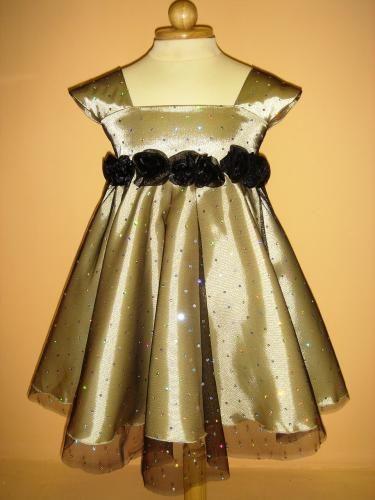 Детская одежда золотое платье