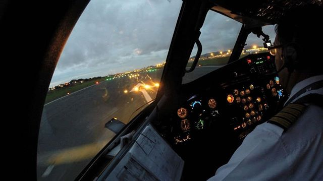 Beautiful takeoff on the TAME ATR-42!  Cockpit all over the world at JUSTPLANES.COM  #justplanes #tame #tameecuador #ecuador #guayaquil #atr #atr42 #cockpit #flightdeck #pilot #crew #pilotsview #pilotseyes #gopro
