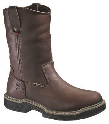 Wolverine Buccaneer Wellington Contour Welt Waterproof Steel Toe Work Boots for Men - Dark Brown - 10 XW