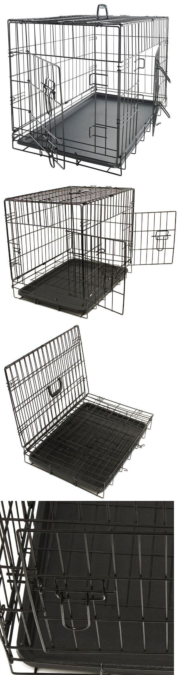 Cages and Crates 121851: Xxl Dog Crate Kennel Chew Resistant Extra Large 48 Inch Black Cage Pet Training BUY IT NOW ONLY: $78.98