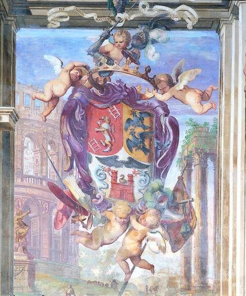 Palazzo Arese Borromeo, affresco, Cesano Maderno (Monza)