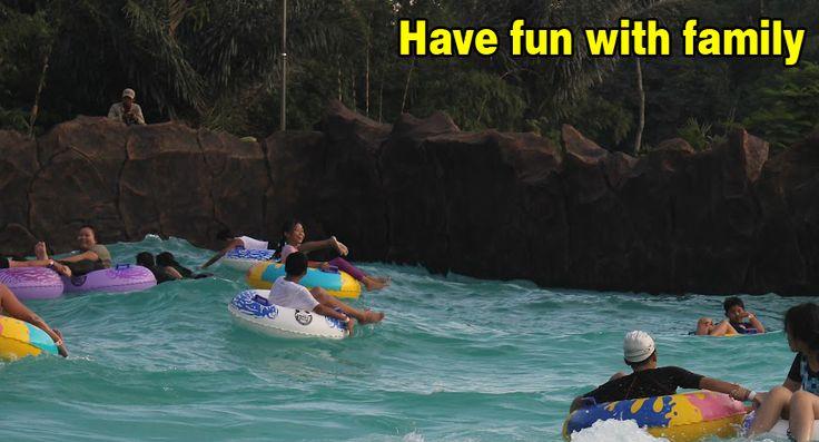Having fun with your family & child at Kampung Gajah like water boom, gokar and more
