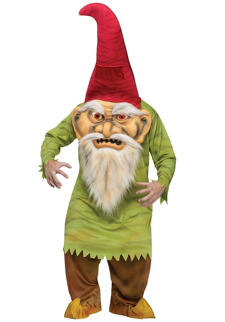 Big Head Evil Gnome Costume, Halloween Fancy Dress - Other Halloween Costume Ideas at Escapade™ UK