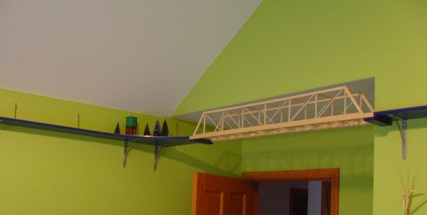 A great example of how someone built a track around their child's room.