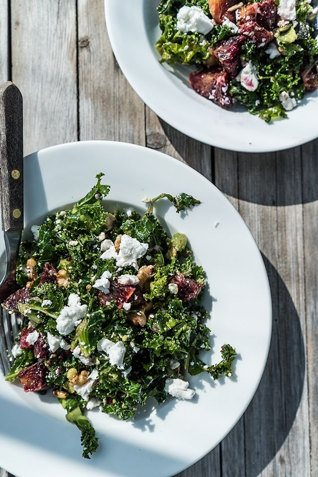 Salat med blodappelsin, avokoado og feta