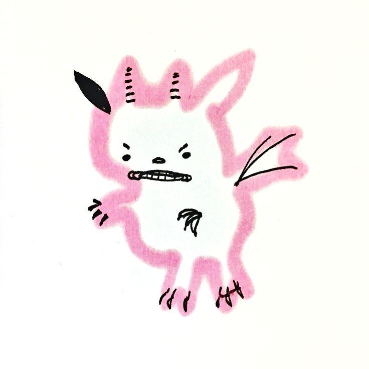Little monster for Halloween by Marie Åhfeldt/Mås Illustra. #monster #halloween #masillustra #illustration www.masillustra.se
