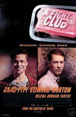 Fight Club (Brad Pitt Edward Norton) Rules Movie Poster
