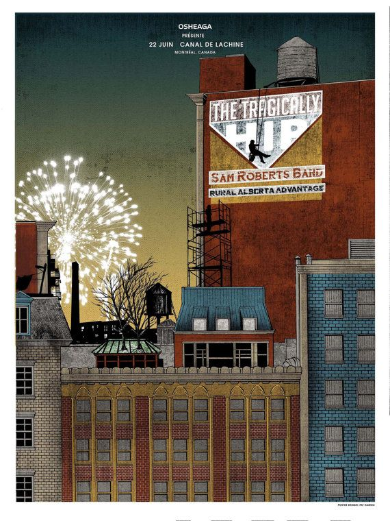 The Tragically Hip 18 x 24 Screenprint Poster