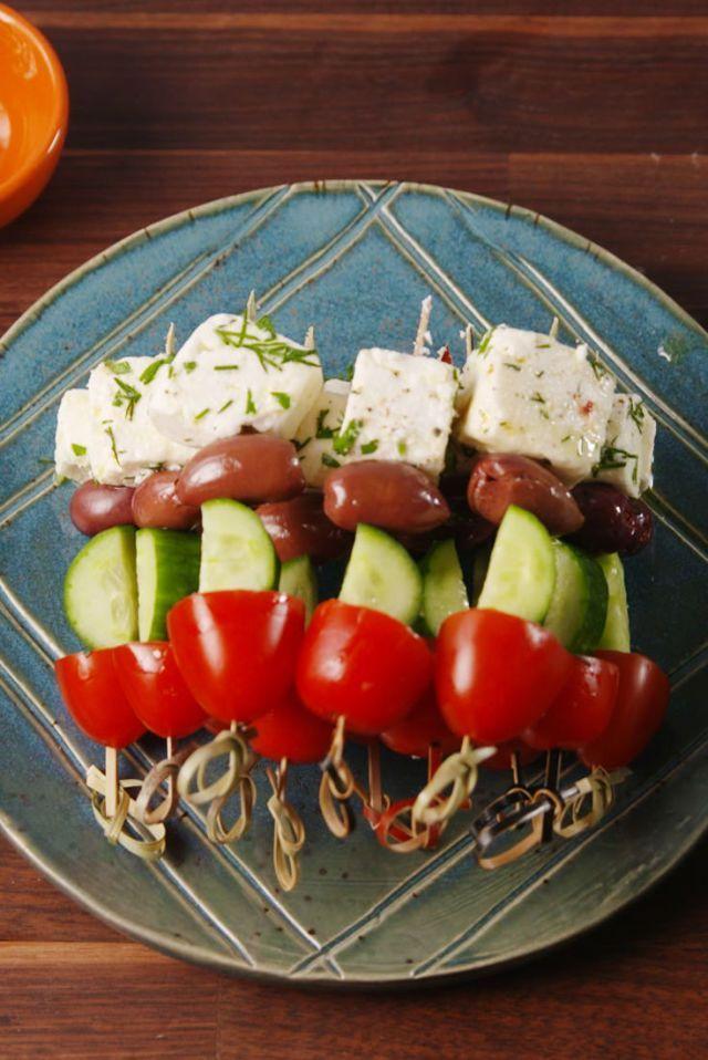 Greek Salad Skewers  - Delish.com