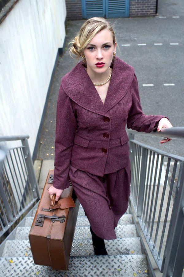 Fabulous tweed skirt suit!