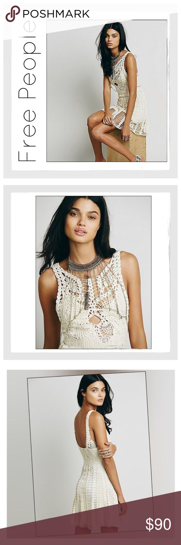 ✨Free People Macrame Mini Dress✨ ✨Boho Chic And Charming Free People Open Crochet Mini Dress✨Cotton/Ramie Blend✨Fully Lined With Rayon Slip✨Fit-and-flare silhouette has a darted and tailored bodice that flows into a lovely A-line skirt✨Scoop neckline with keyhole cutout at slip collar✨Natural hem✨NWT✨Size Medium✨ Free People Dresses Mini