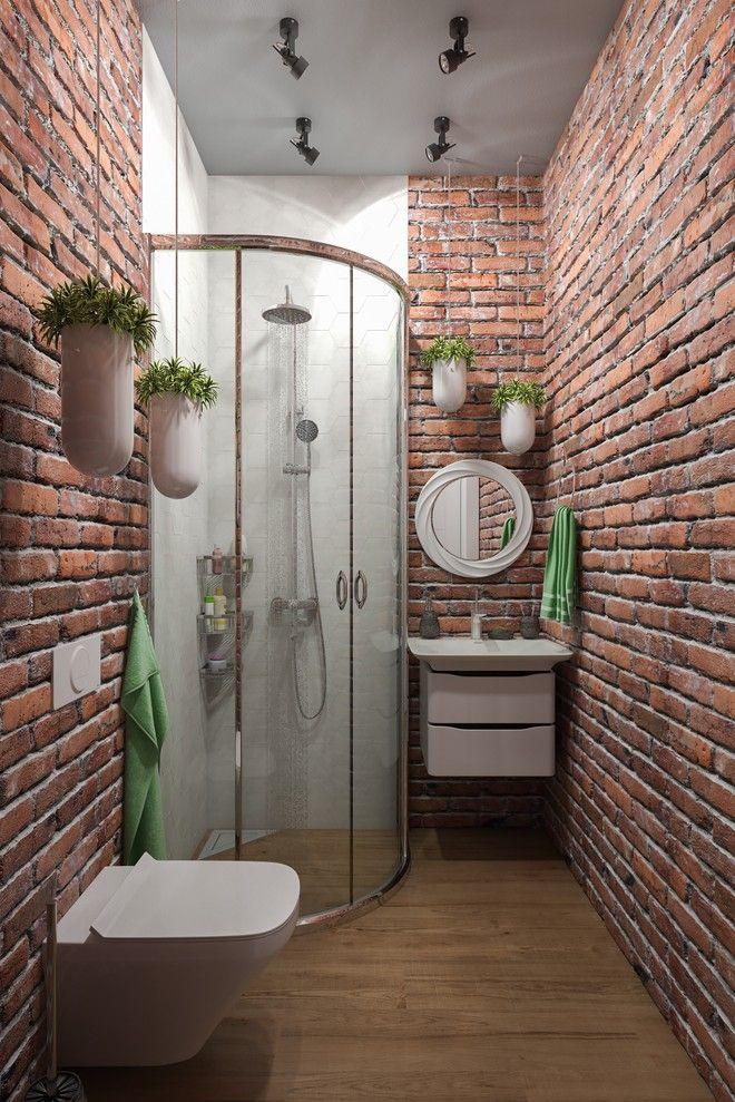 Ванная конмната. Интерьер загородного дома в стиле Лофт, пос. Белоостров, 180 кв.м.