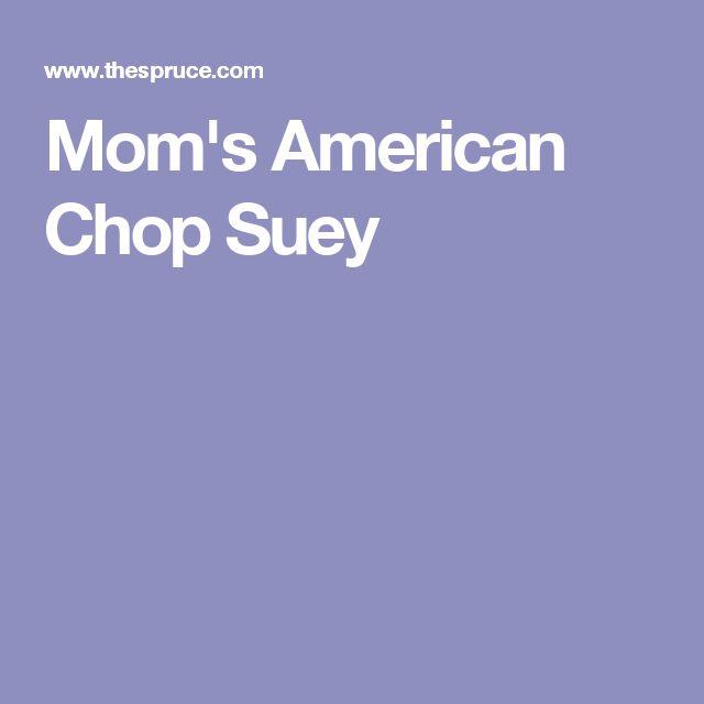 Mom's American Chop Suey