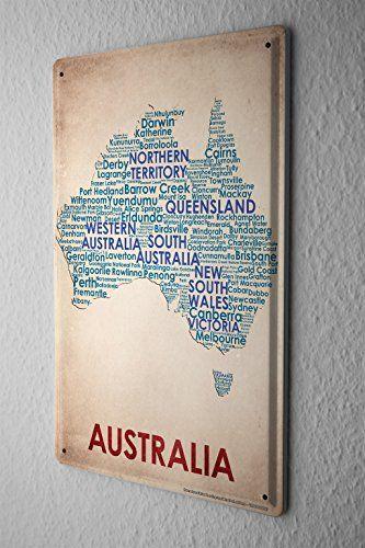 Blechschild Welt Reise Australien Landkarte Wand Deko Schild 20X30 cm leotie http://www.amazon.de/dp/B00PUQYPKA/ref=cm_sw_r_pi_dp_2G.Zwb016EVFF