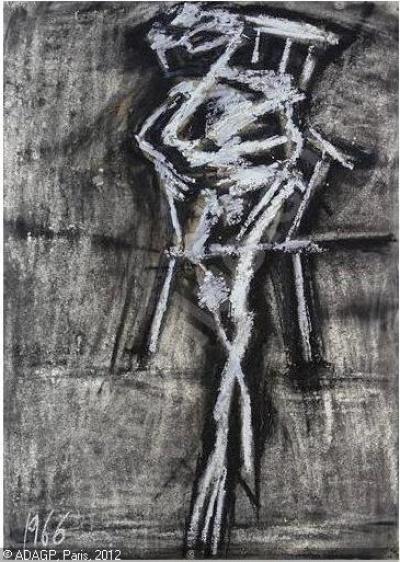 frank auerbach - seated figure (1966)