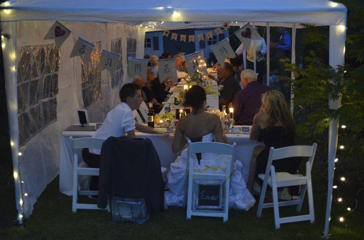 Friends & Family. Garden wedding
