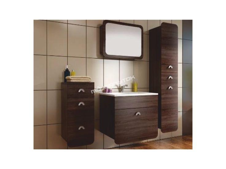 Dokonalá kúpeľňová zostava DOMINIKA v praktickom farebnom prevedení dub sonoma…