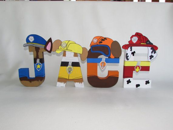 25% OFF SALE PAW Patrol Character Letters Price by Letters2Life