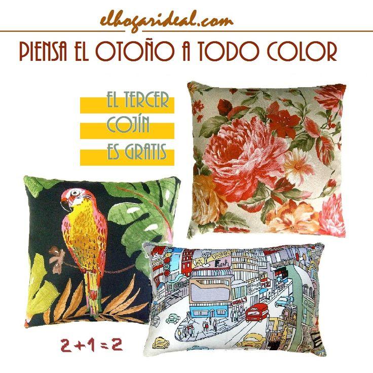 Cojines con estampado de comic, cojines con estampado tropical, cojines con flores, cushion el hogar ideal. http://elhogarideal.com/es/30-cojines-ideal-
