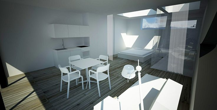 Rendering by Peter Pichler Architects with BLOCCO armchairs, design Naoto Fukasawa and Mister X table, design by Biagio Cisotti, Sandra Laube. Download 2D&3D data here: http://www.plank.it/product/blocco-armchair-2/ and http://www.plank.it/product/mister-x-table/