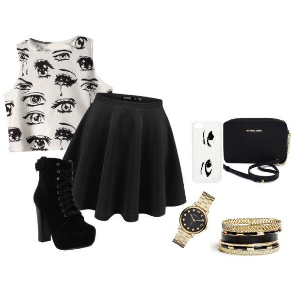 random outfit by bunnykayes on Polyvore featuring polyvore fashion style Chicnova Fashion Chelsea Crew Michael Kors Marc by Marc Jacobs GUESS CellPowerCases