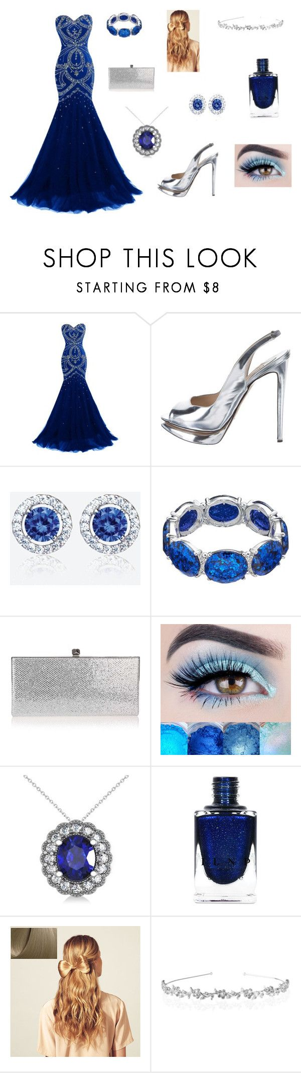 """""""Ravenclaw Yule Ball"""" by isabelle-ruby1 ❤ liked on Polyvore featuring Nicholas Kirkwood, Jimmy Choo, Allurez and Hershesons"""