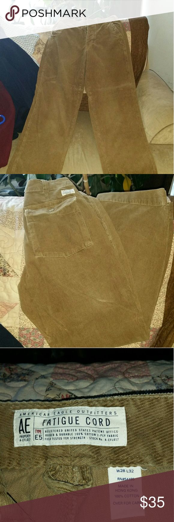 American Eagle Outfitters Men's Corduroy Pants Great condition brown Corduroy pants. American Eagle Outfitters Pants Corduroy