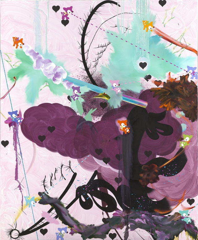 """oil and acrylic on canvas, 84"""" x 69"""" (213.4 cm x 175.3 cm), 2005,  © Fiona Rae, courtesy Pace Gallery / Photo by: Prudence Cuming Associates Ltd."""