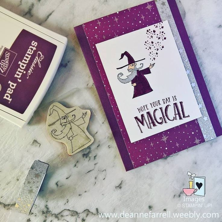 Happy Friday y'all, hope your day is magical! #mythsandmagic #wizard #magical #handmade #stampinup #dlbcraft
