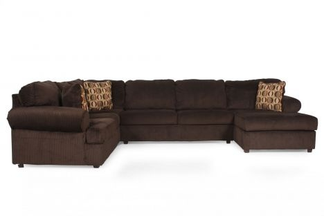 Ashley vista chocolate 3pc sectional ideas for the house for Ashley furniture vista chocolate sofa sectional
