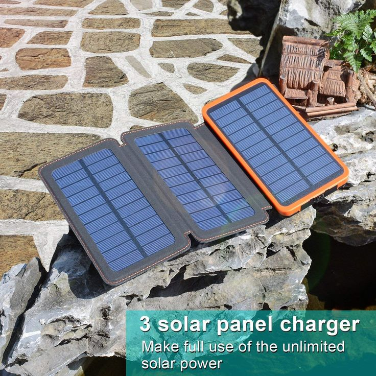 Solar panel charging point of use tankless water heater for shower