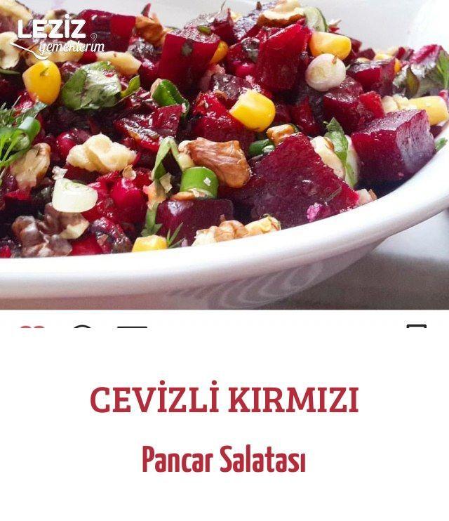 Cevizli Kırmızı Pancar Salatası Leziz Yemeklerim Yemek Tarifi Pancar Salatası Pancar Leziz Yemek