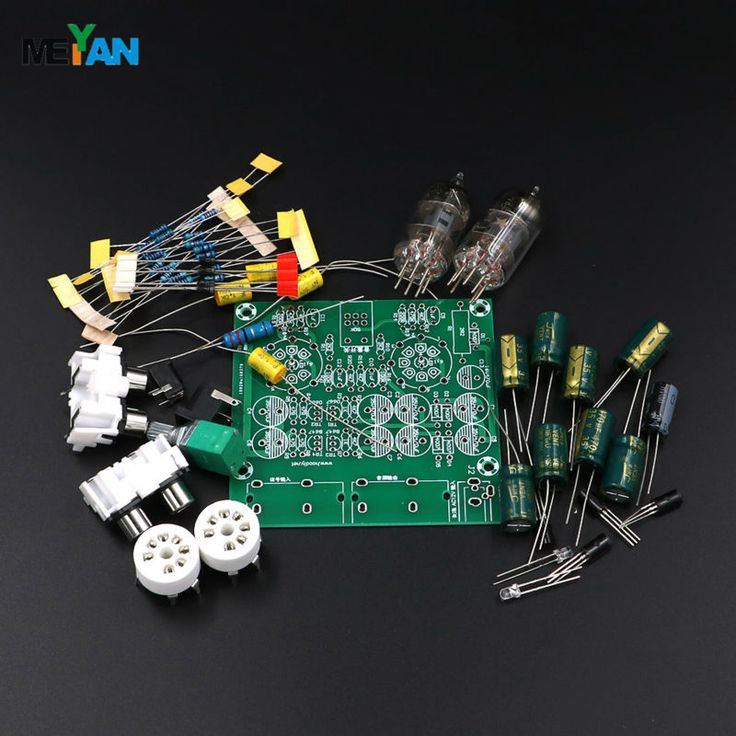 Audiophile 6J1 Tube preamplifier Headphone amplifier Power amp tube buffer DIY kit Base on music fidelity X-10D circuit