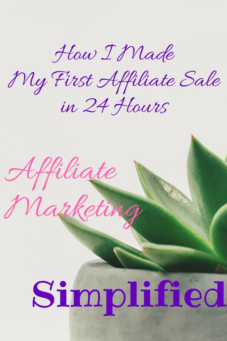 Learn how I used this simple Pinterest strategy to make my first affiliate sale in only 24 hours! Follow these simple steps and you, too, can make money from home using Pinterest and make money from affiliate marketing as well as from your own products and services. #affiliate
