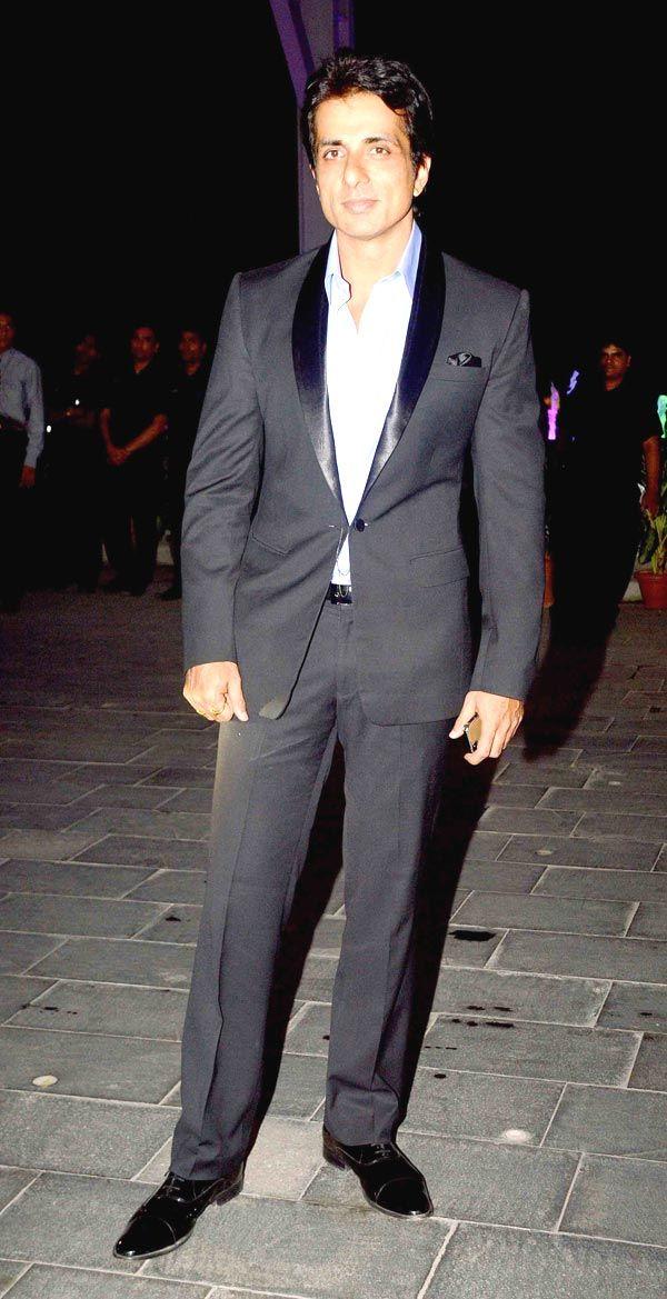 Sonu Sood at Shirin Morani's wedding reception. #Bollywood #Fashion #Style #Handsome