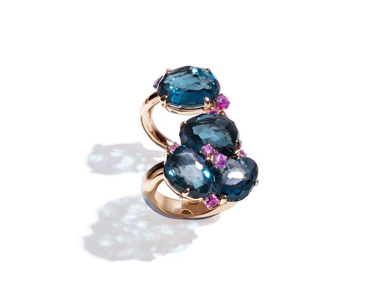 Pomellato Bahia - London Blu Topaz/Pink Sapphire