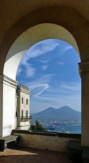 Mount Vesuvius - from San Martino, Naples, Campania, Italy. Go to www.YourTravelVideos.com or just click on photo for home videos and much more on sites like this.
