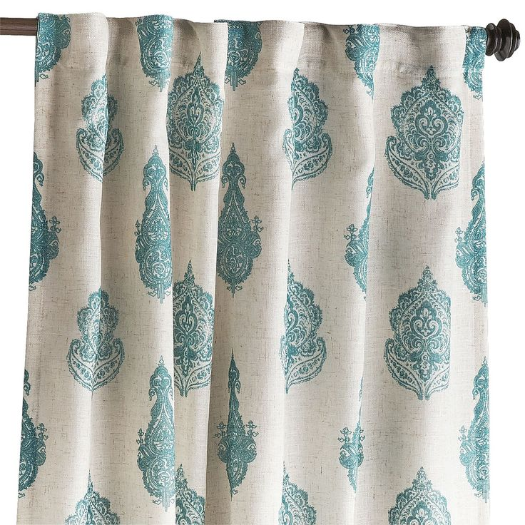 Rambagh Paisley Curtain - Teal | Pier 1 Imports 44.95